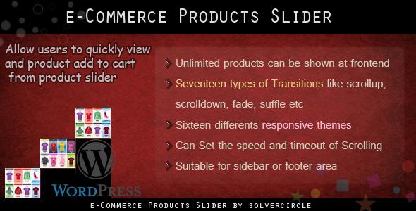 CodeCanyon WP E-commerce Products Slider 4646153