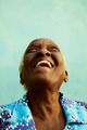 Portrait of funny elderly black woman smiling and laughing - PhotoDune Item for Sale