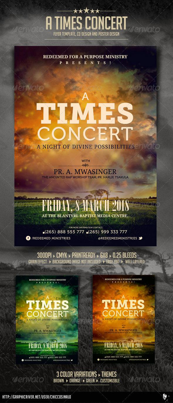 A Times Concert Flyer - Concerts Events