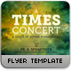 A Times Concert Flyer - GraphicRiver Item for Sale