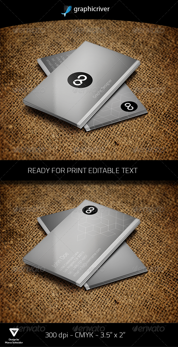 GraphicRiver Graphic Designer Business Card 4578946