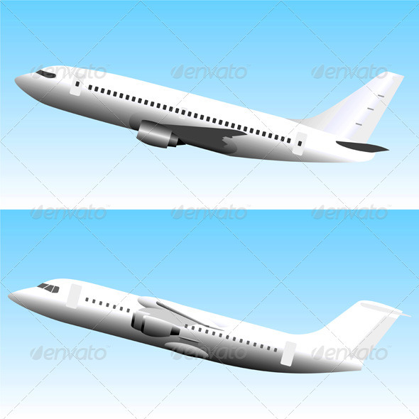 GraphicRiver Commercial Jet Airplanes Set 485860
