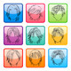 Hairstyle Silhouettes Template - GraphicRiver Item for Sale