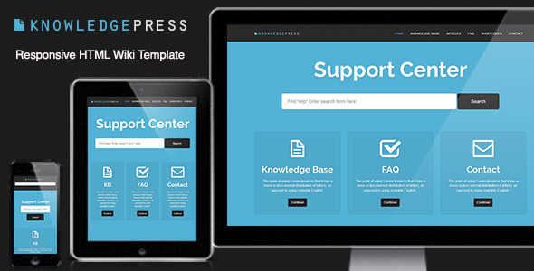 ThemeForest Responsive Knowledge Base & FAQ HTML Template 4640819