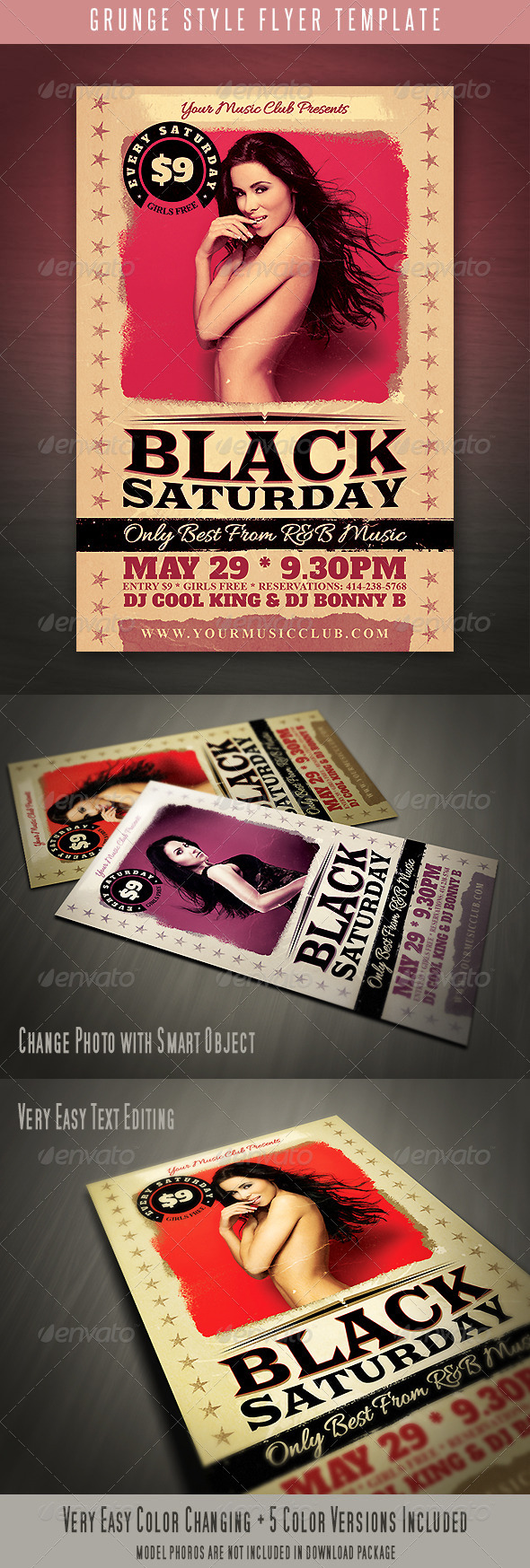 GraphicRiver Grunge Style Flyer 4577707