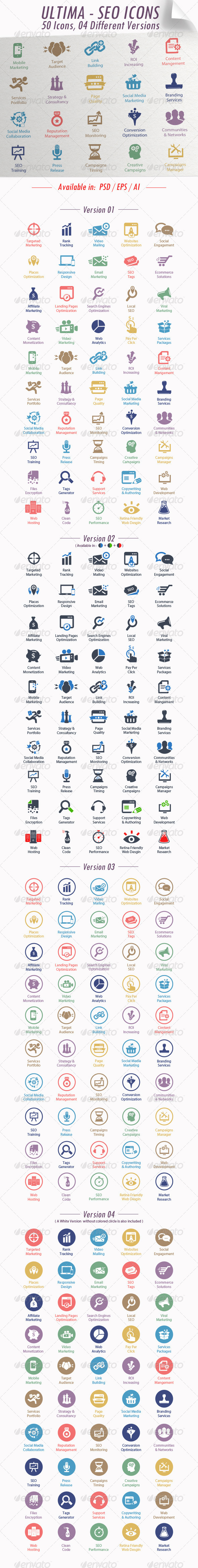 GraphicRiver Ultima SEO Services Icons 4649310