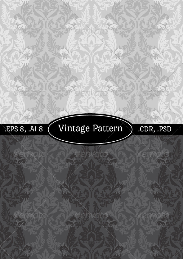 GraphicRiver Vintage Wallpaper Pattern 4623466