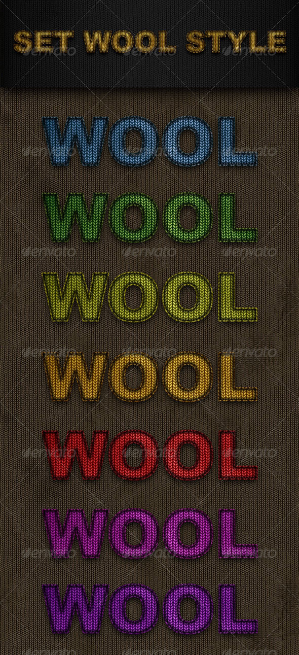 GraphicRiver Set Wool Style 4649404