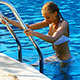 Sexy Woman Climbing Swimming Pool Ladder - VideoHive Item for Sale