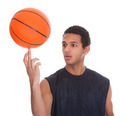 Young Sportsman Balances Ball On A Finger - PhotoDune Item for Sale