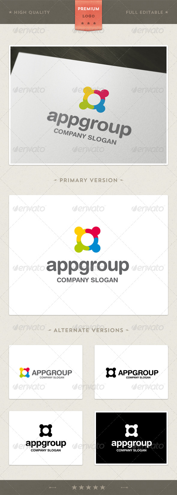 GraphicRiver App Group Logo Template 4649547