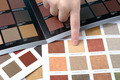 Hand pointing to sample color chart  - PhotoDune Item for Sale
