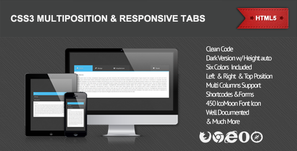 CodeCanyon CSS3 Multiposition & Responsive Tabs 4649710