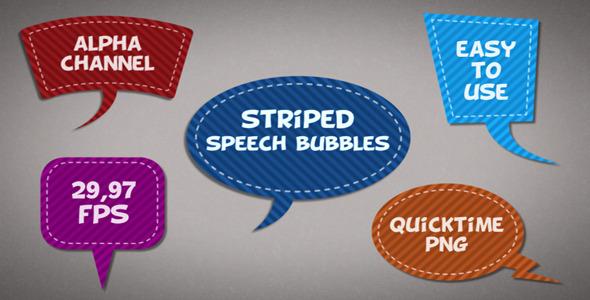 Striped Speech Bubbles