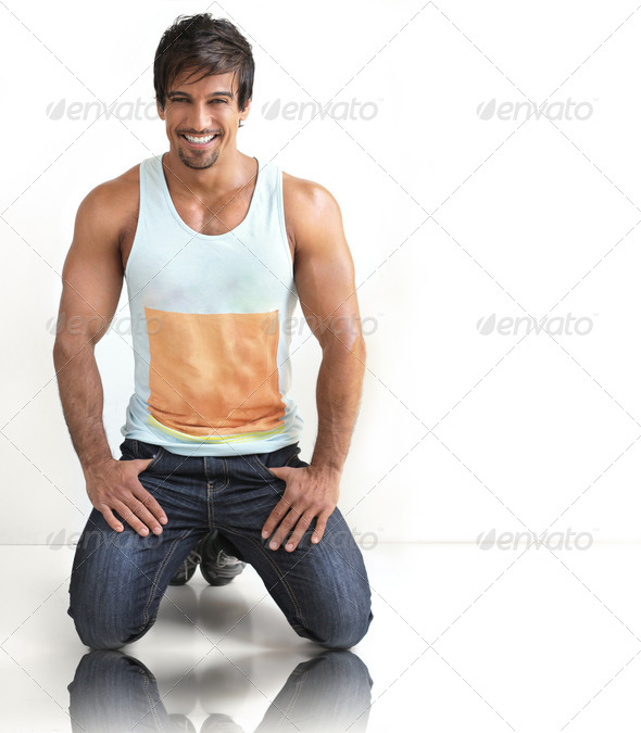 Fun sexy guy - Stock Photo - Images