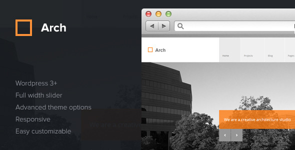 Arch - Responsive Architect WordPress Theme - Creative WordPress
