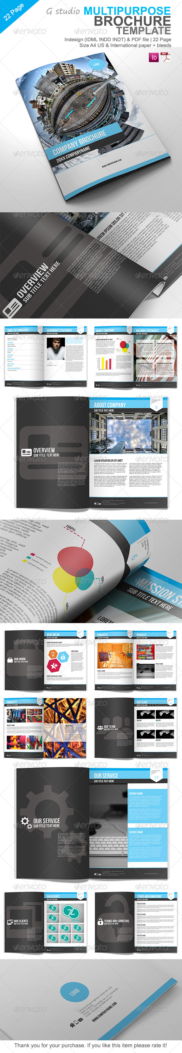 Gstudio Multipurpose Brochure Template - Corporate Brochures