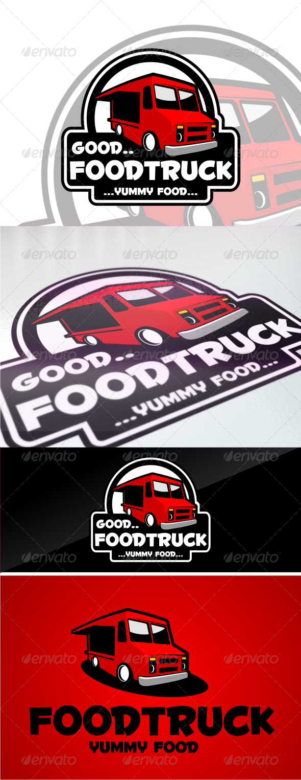 GraphicRiver food truck logo templates 4536243