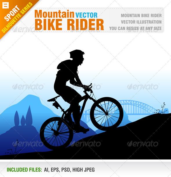 GraphicRiver Mountain Bike Rider 4651460
