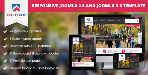 ThemeForest BT Real Estate Responsive Joomla Template 4651603