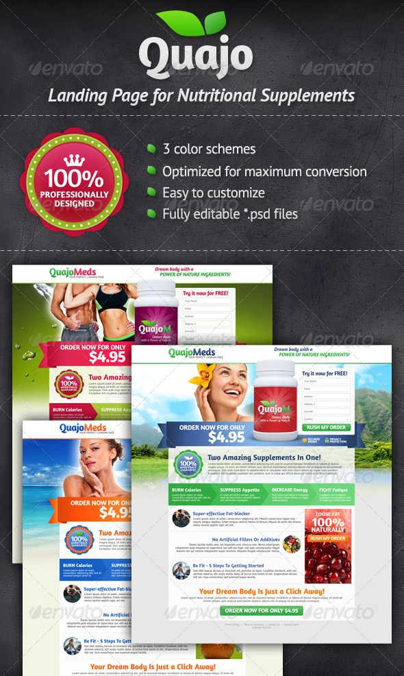 GraphicRiver Medical Supplements Landing Page 4635296