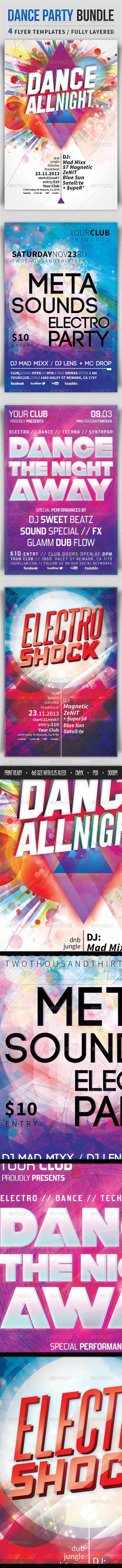 GraphicRiver Dance Party Bundle 4652453