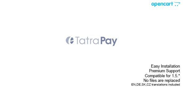 CodeCanyon Tatrabanka TatraPay Opencart Plugin 4645894
