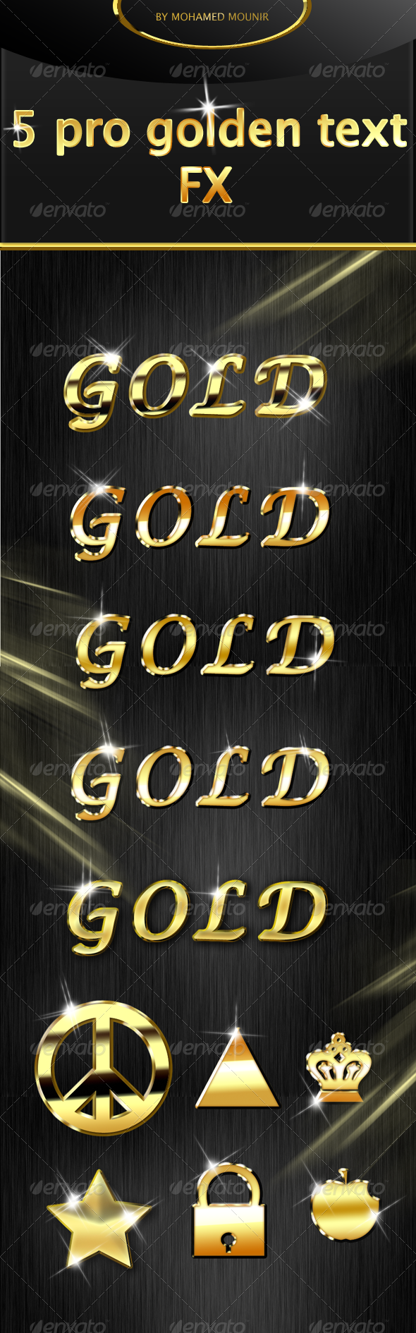GraphicRiver Gold Text Styles 4652690