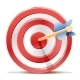Red Dart Target Aim and Arrow - GraphicRiver Item for Sale