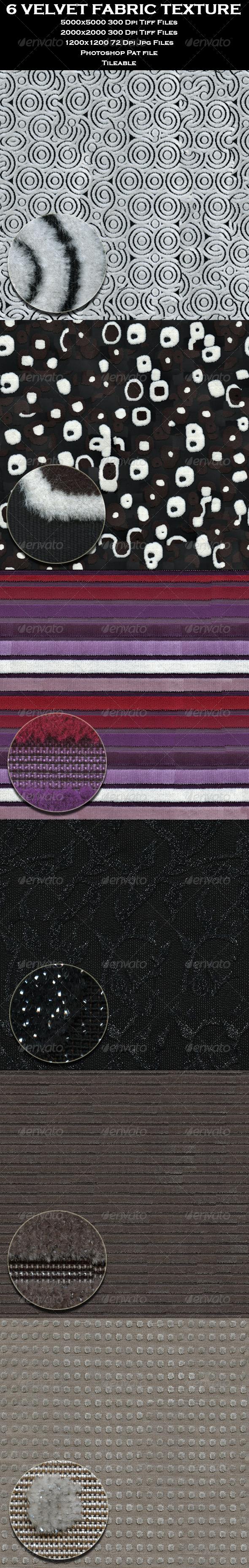 GraphicRiver 6 Velvet Fabric Texture 4653565