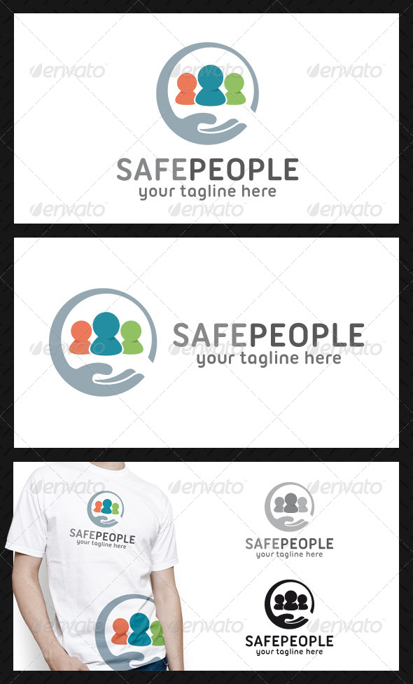GraphicRiver Safe People Logo Template 4653619