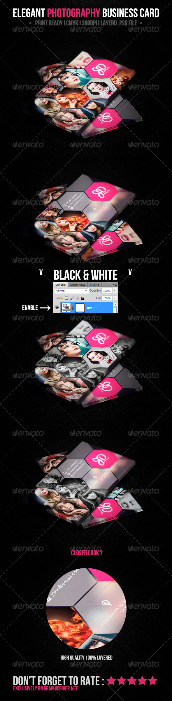 GraphicRiver Elegant Photography Business Card 4653685