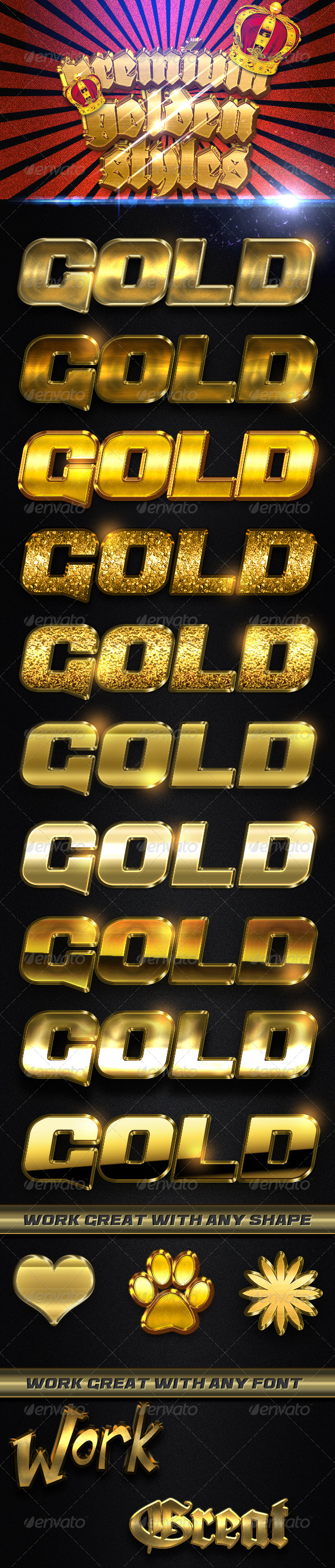 GraphicRiver Premium Golden Styles FX 4654084