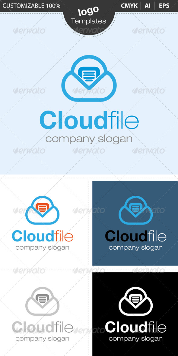 GraphicRiver Cloud File Logo 4630700