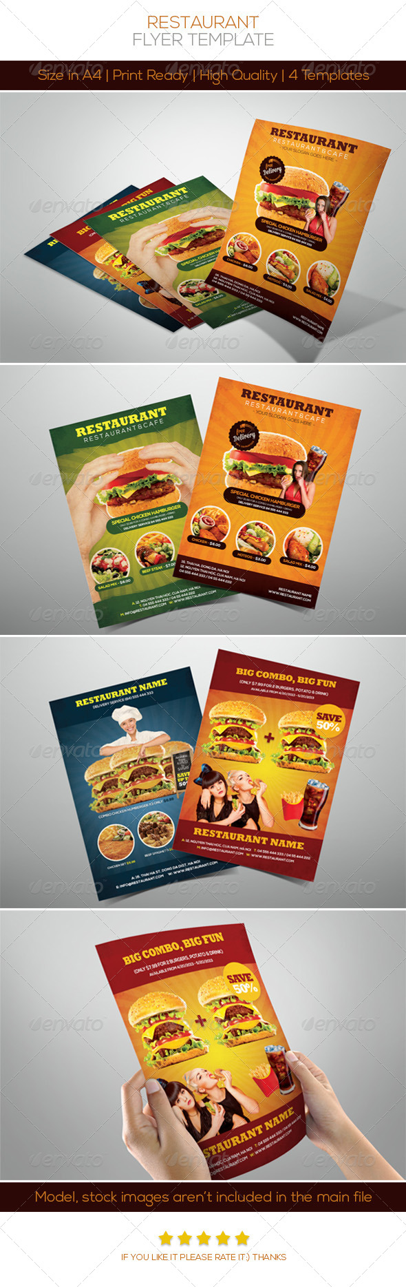 GraphicRiver Premium Restaurant Flyers 4654570