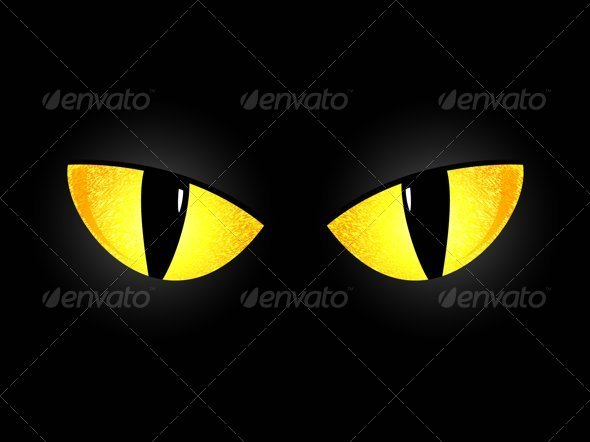 GraphicRiver Eyes of a Black Cat 4654774