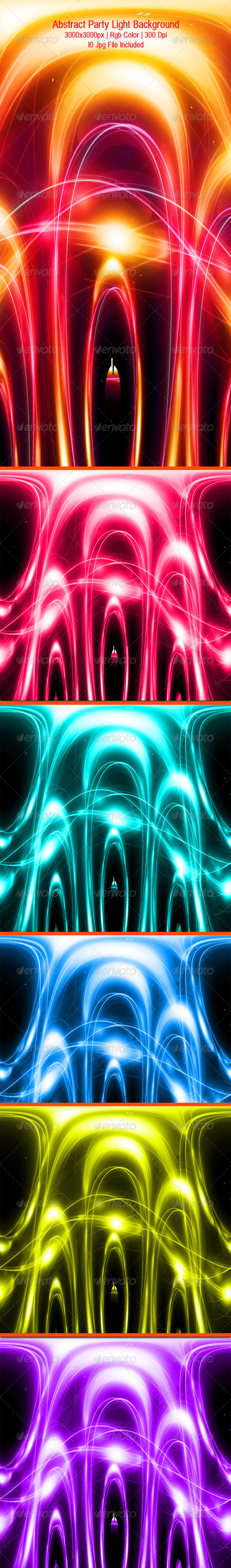 GraphicRiver Abstract Party Light Background 4654776