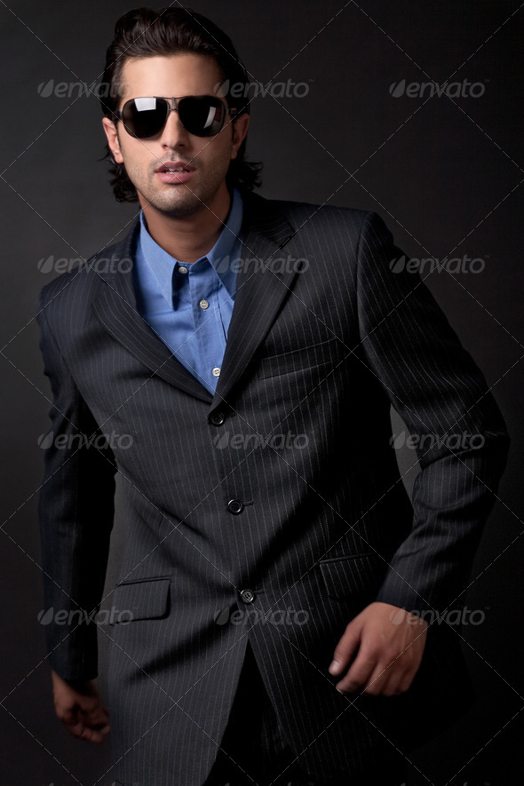 handsome young fashion model - Stock Photo - Images