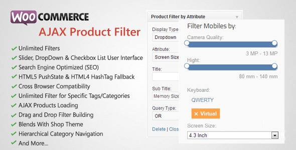 CodeCanyon WooCommerce AJAX Product Filter WordPress Plugin 4640387