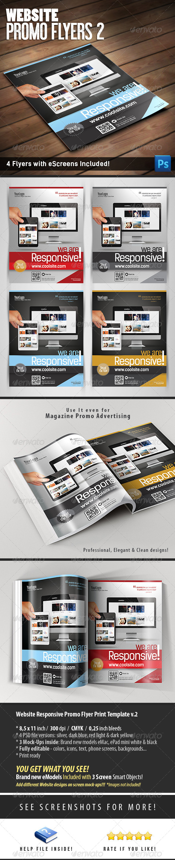 Website Promo Flyers v.2 - Flyers Print Templates