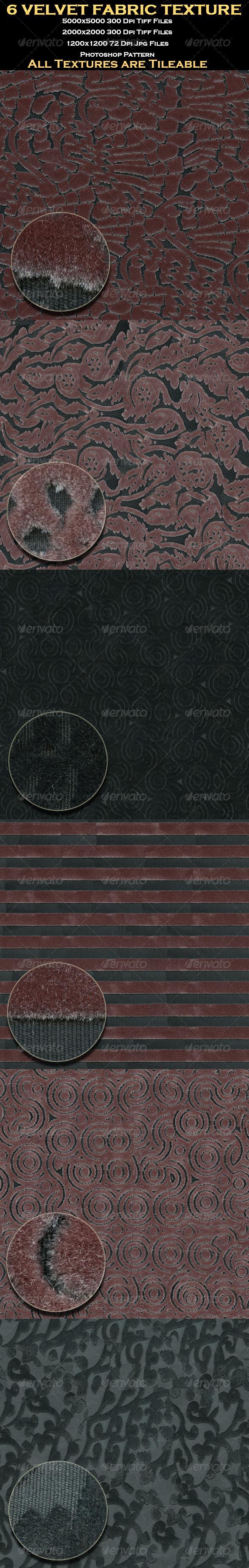 GraphicRiver 6 Velvet Fabric Texture 4655109