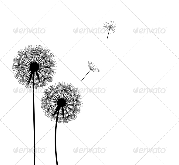 GraphicRiver Abstract Dandelion Background 4655301