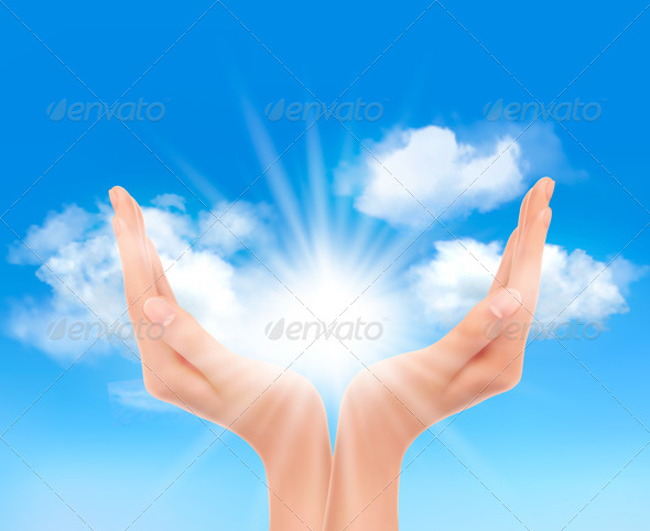 GraphicRiver Hands with a Bright Sun 4655306