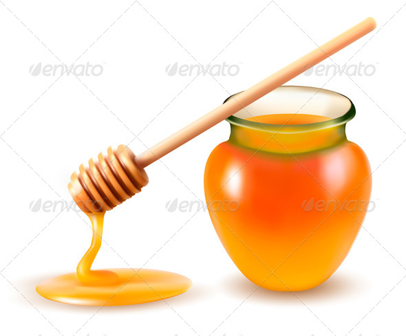 GraphicRiver Jar of Honey and a Dipstick 4655409