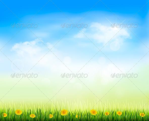 GraphicRiver Summer Gaze Background with Blue Sky 4655411