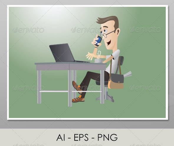 GraphicRiver Character Design Student With Laptop 4632906