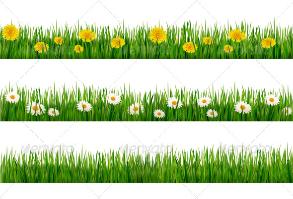GraphicRiver Three Nature Backgrounds of Green Grass 4655460