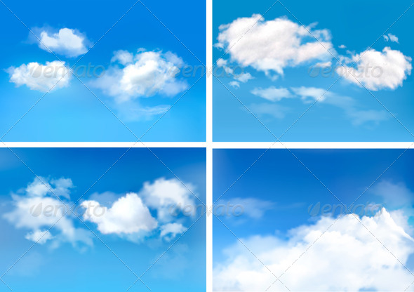 GraphicRiver Blue Sky with Clouds Backgrounds 4655463