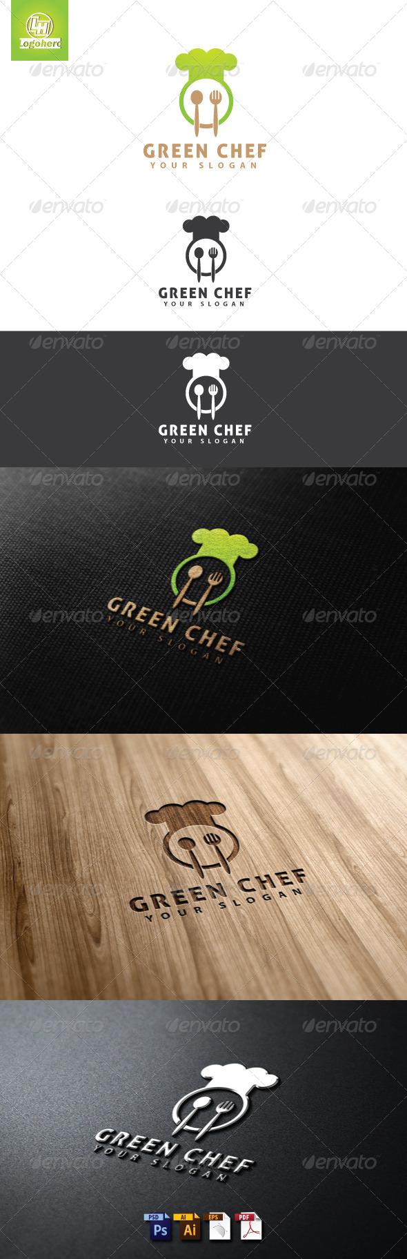 GraphicRiver Green Chef Logo Template 4655499