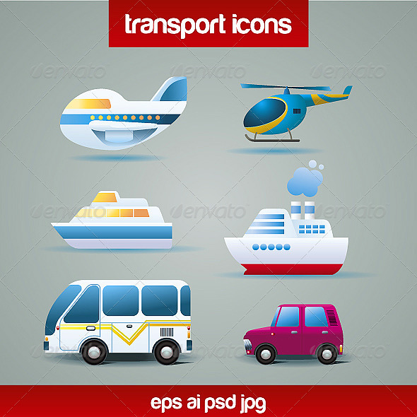 GraphicRiver Tranportation Icons 4655550